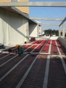 Kaizen elektrikli yerden ısıtma uygulaması, Florya Akvaryum Tesisleri Kaşıbeyaz teras ısıtması