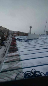 Kar buz ve sarkıt önleme amaçlı çatı kenarlarında ısıtma uygulaması