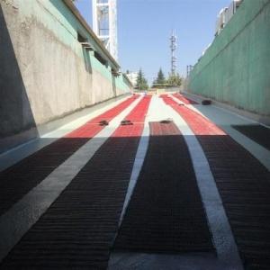AVM araç giriş ve çıkış yollarının elektrikli yerden ısıtma uygulaması